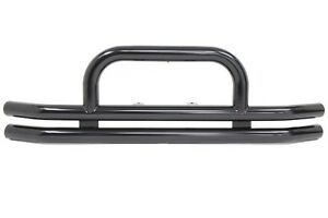 Rampage Black Tubular Front Bumper With Hoop 1976 2006 Jeep Wrangler 8620