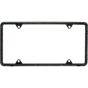 All Black Diamond Bling Glitter Crystal Rhinestone License Plate Frame Car Thin