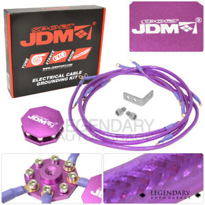 Universal Multiple Point Grounding Wire Kit Performance Cable System Purple