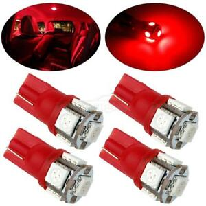 4x Red Interior Dome Map Lights Led T10 194 168 2825 Lamps For Chevrolet