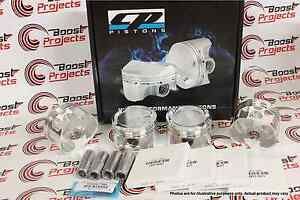Cp Forged Turbo Pistons For Acura Integra Ls b18a1 b18b1 81mm 9 0 1 Cr Sc7005