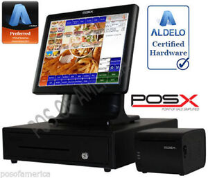 Aldelo Pro Pos x Quick Service Restaurant All in one Complete Pos System New