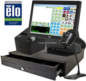 Corner Store Pos Retail All in one Station Complete System With Elo 15e2 New