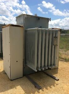 Westinghouse Substation Transformer 1000 Kva Primary 4160 Secondary 480y 277