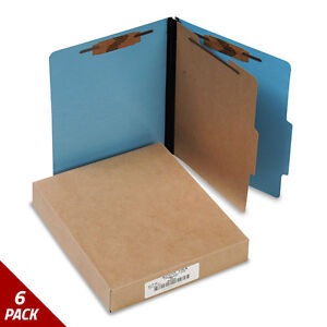 Presstex Classification Folders Letter 4 section Light Blue 10ct 6 Pack