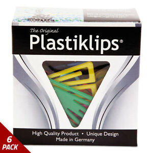 Baumgartens Plastiklips Paper Clips Small Assorted Colors 1000ct 6 Pack