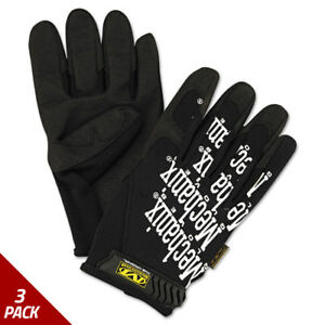 Mechanix Wear The Original Work Gloves Black X large 3 Pack