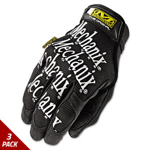Mechanix Wear The Original Work Gloves Black Large 3 Pack