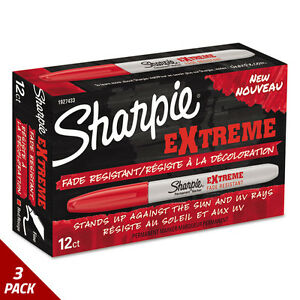 Sharpie Extreme Marker Fine Point Red Dozen 3 Pack