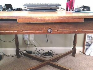 Antique Gothic Revival Jacobean 66 X 30 Draw Leaf Table