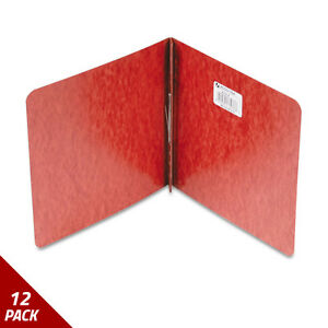 Acco Pressboard Report Cover Prong Clip 8 1 2 X 8 1 2 2 Capacity Red 12 Pack