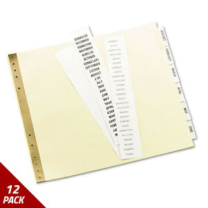 Avery Insertable Clear Tab Dividers For Data Binders 6 tab 11 X 9 1 2 12 Pack