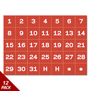 Mastervision Calendar Magnetic Tape Calendar Dates Red white 1 X 1 12 Pack