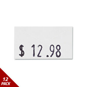 Garvey One line Pricemarker Labels 7 16 X 13 16 White 1200 roll 3ct 12 Pack