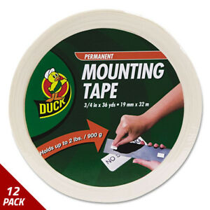 Duck Permanent Foam Mounting Tape 3 4 X 36yds 12 Pack