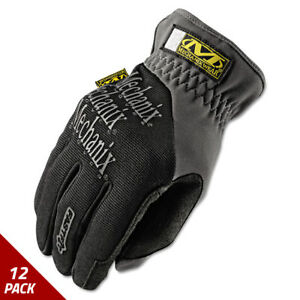 Mechanix Wear Fastfit Work Gloves Black gray Large 12 Pack