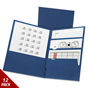 Oxford Divide It Up Four pocket Paper Folders 11 X 8 1 2 Navy 20ct 12 Pack