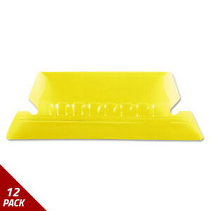 Hanging File Folder Tabs 1 5 Tab Two Inch Yellow Tab white Insert 25ct 12 Pack