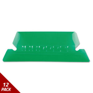 Hanging File Folder Tabs 1 5 Tab Two Inch Green Tab white Insert 25ct 12 Pack
