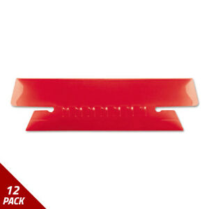 Hanging File Folder Tabs 1 3 Tab 3 1 2 Inch Red Tab white Insert 25ct 12 Pack