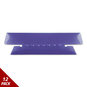 Hanging File Folder Tabs 1 3 Tab 3 1 2 Inch Violet Tab wht Insert 25ct 12 Pack