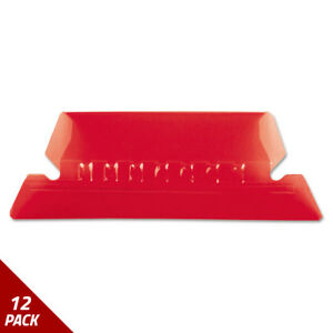 Hanging File Folder Tabs 1 5 Tab Two Inch Red Tab white Insert 25ct 12 Pack
