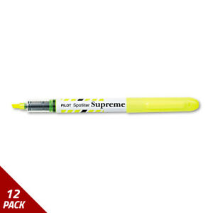 Spotliter Supreme Highlighter Chisel Tip Fluorescent Yellow Ink 12ct 6 Pack