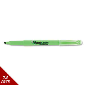 Accent Pocket Style Highlighter Chisel Tip Fluorescent Green 12ct 12 Pack