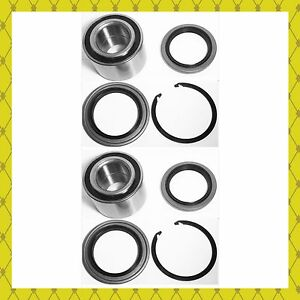 Front Wheel Hub Bearing Seal W Snap Ring For 2000 2006 Toyota Tundra Pair