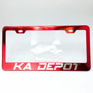 Spy Agency Font Personalized Custom Laser Engraved Red License Plate Frame Audi