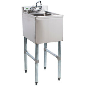 Regency 1 Bowl Stainless Steel Restaurant Underbar Hand Sink With Swivel Faucet