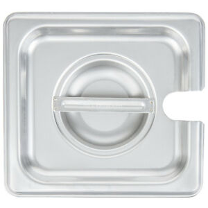 6 pack 1 6 Size Slotted Stainless Steel Silver Steam Table Hotel Pan Lids
