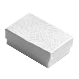 Wholesale 1000 White Swirl Cotton Filled Jewelry Gift Boxes 2 5 8 X 1 1 2 X 1