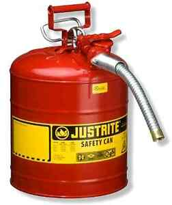 Justrite Accuflow Type Ii Galvanized Steel Safety Can Flexible Metal Hose Gas