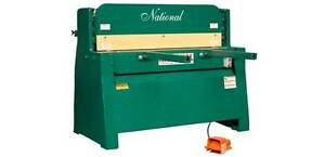 National 10 Hydraulic Sheet Metal Shear 1 4 Capacity
