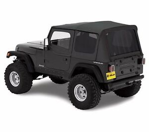 Bestop Replace a top Tinted Soft Top W Upper Door Skins 88 95 Jeep Wrangler Yj