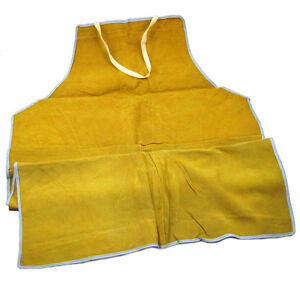 Leather Bib Welding Heat Insulation Protection Safety Apron Anti Fire Splash