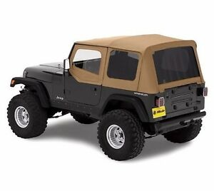 Bestop Replace a top Tinted Spice Top W Upper Door Skins 88 95 Jeep Wrangler Yj