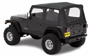 Bestop Replace a top Soft Top With Upper Door Skins 88 95 Jeep Wrangler Yj Clear