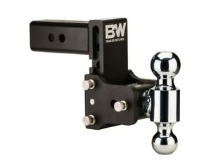 B w Tow And Stow Hitch Ball Mount 5 Drop 5 1 2 Rise Dual Ball Ts10037b