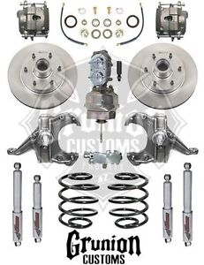 Mcgaughys Chevy C10 1960 62 2 5 3 Lowering Kit W 6 Lug Power Disc Brake 7 Boost