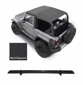 Smittybilt Extended Top windshield Channel For 2007 2009 2 door Jeep Wrangler Jk