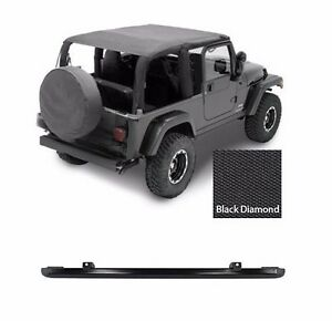 Smittybilt Extended Top windshield Channel For 04 06 Jeep Wrangler Unlimited Lj