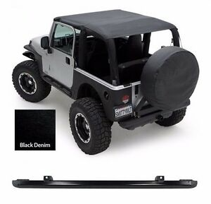 Smittybilt Extended Top And Windshield Channel For 1997 2006 Jeep Wrangler Tj