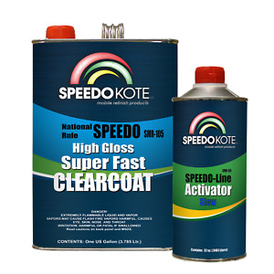 Mobile Refinish Clear Coat High Gloss Super Fast Clearcoat Gallon Kit Smr 105 85