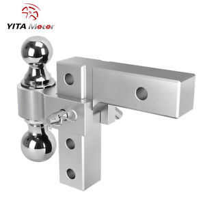 Yitamotor 2 Receiver 6 Adjustable Towingtrailer Hitch 2 Ball 2 2 5 16