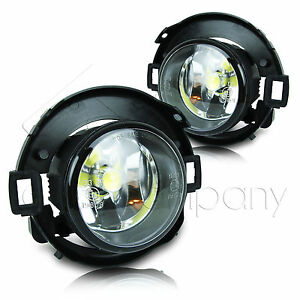 For 10 15 Frontier 05 14 Xterra Fog Lights W wiring Kit Cob Led Bulbs Clear