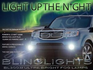 Xenon Halogen Fog Lamps Driving Lights For 2012 2013 2014 2015 Honda Pilot