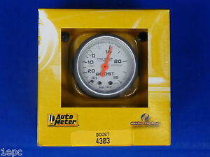 Auto Meter 4303 Ultra Lite Vacuum Boost Mechanical Gauge 2 1 16 30 In Hg 30 Psi