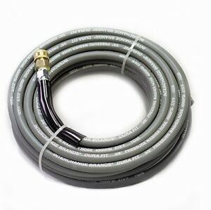 Interchange 00101 50 Ft 3 8 Gray Non marking 4000psi Pressure Washer Hose With
